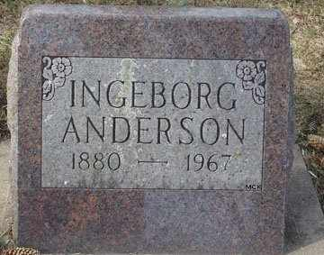 ANDERSON, INGEBORG - Minnehaha County, South Dakota | INGEBORG ANDERSON - South Dakota Gravestone Photos