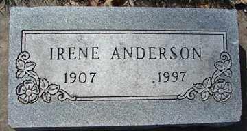 ANDERSON, IRENE - Minnehaha County, South Dakota | IRENE ANDERSON - South Dakota Gravestone Photos