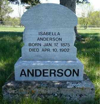 ANDERSON, ISABELLA - Minnehaha County, South Dakota | ISABELLA ANDERSON - South Dakota Gravestone Photos