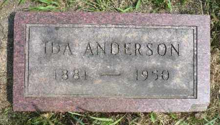 ANDERSON, IDA - Minnehaha County, South Dakota | IDA ANDERSON - South Dakota Gravestone Photos