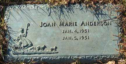 ANDERSON, JOAN MARIE - Minnehaha County, South Dakota | JOAN MARIE ANDERSON - South Dakota Gravestone Photos