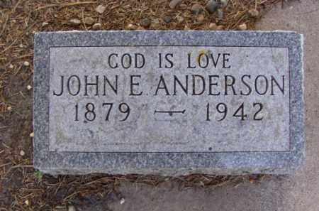 ANDERSON, JOHN E. - Minnehaha County, South Dakota | JOHN E. ANDERSON - South Dakota Gravestone Photos