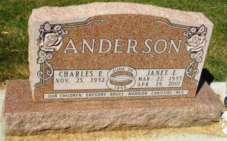 ANDERSON, CHARLES E. - Minnehaha County, South Dakota | CHARLES E. ANDERSON - South Dakota Gravestone Photos