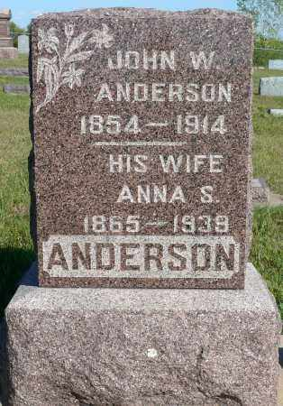 ANDERSON, ANNA S. - Minnehaha County, South Dakota | ANNA S. ANDERSON - South Dakota Gravestone Photos
