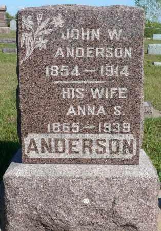 ANDERSON, JOHN W. - Minnehaha County, South Dakota | JOHN W. ANDERSON - South Dakota Gravestone Photos