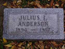 ANDERSON, JULIUS I. - Minnehaha County, South Dakota | JULIUS I. ANDERSON - South Dakota Gravestone Photos