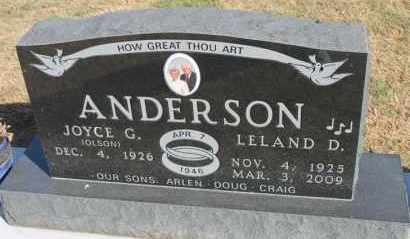 ANDERSON, LELAND D. - Minnehaha County, South Dakota | LELAND D. ANDERSON - South Dakota Gravestone Photos