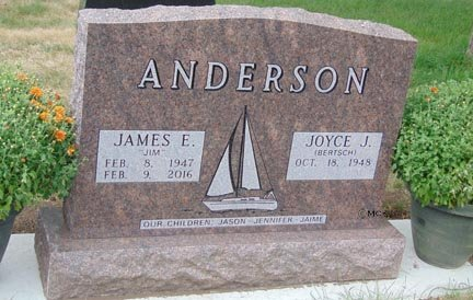 ANDERSON, JAMES E. - Minnehaha County, South Dakota | JAMES E. ANDERSON - South Dakota Gravestone Photos