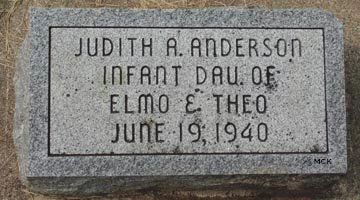 ANDERSON, JUDITH A. - Minnehaha County, South Dakota | JUDITH A. ANDERSON - South Dakota Gravestone Photos
