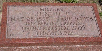 ANDERSON, JENNIE E. - Minnehaha County, South Dakota | JENNIE E. ANDERSON - South Dakota Gravestone Photos