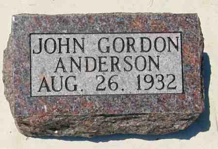 ANDERSON, JOHN GORDON - Minnehaha County, South Dakota   JOHN GORDON ANDERSON - South Dakota Gravestone Photos