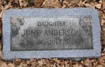 ANDERSON, JUNE - Minnehaha County, South Dakota | JUNE ANDERSON - South Dakota Gravestone Photos