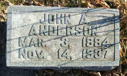 ANDERSON, JOHN A. - Minnehaha County, South Dakota | JOHN A. ANDERSON - South Dakota Gravestone Photos