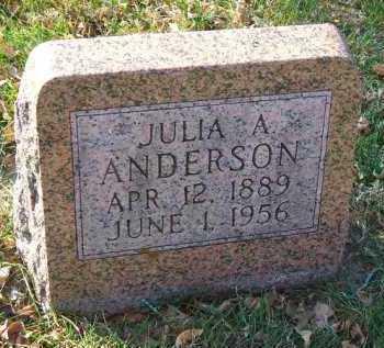 ANDERSON, JULIA A. - Minnehaha County, South Dakota | JULIA A. ANDERSON - South Dakota Gravestone Photos