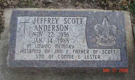 ANDERSON, JEFFREY SCOTT - Minnehaha County, South Dakota | JEFFREY SCOTT ANDERSON - South Dakota Gravestone Photos