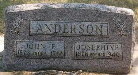 ANDERSON, JOSEPHINE - Minnehaha County, South Dakota | JOSEPHINE ANDERSON - South Dakota Gravestone Photos