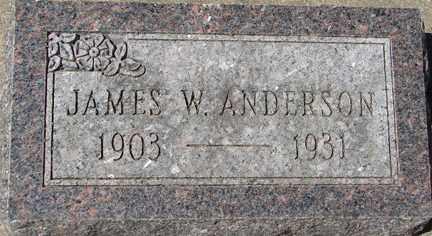 ANDERSON, JAMES W. - Minnehaha County, South Dakota | JAMES W. ANDERSON - South Dakota Gravestone Photos