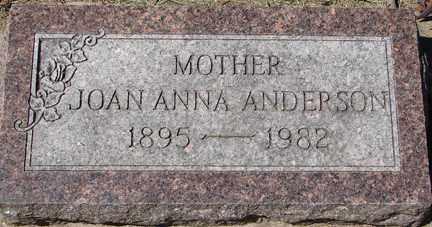 ANDERSON, JOAN ANNA - Minnehaha County, South Dakota | JOAN ANNA ANDERSON - South Dakota Gravestone Photos