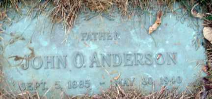 ANDERSON, JOHN O. - Minnehaha County, South Dakota | JOHN O. ANDERSON - South Dakota Gravestone Photos