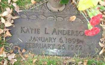 ANDERSON, KATIE L. - Minnehaha County, South Dakota | KATIE L. ANDERSON - South Dakota Gravestone Photos