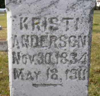 ANDERSON, KRISTI - Minnehaha County, South Dakota | KRISTI ANDERSON - South Dakota Gravestone Photos
