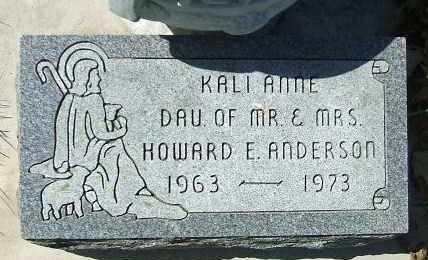 ANDERSON, KALI ANNE - Minnehaha County, South Dakota | KALI ANNE ANDERSON - South Dakota Gravestone Photos