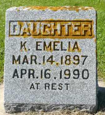 ANDERSON, K. EMELIA - Minnehaha County, South Dakota | K. EMELIA ANDERSON - South Dakota Gravestone Photos