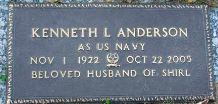 ANDERSON, KENNETH L. - Minnehaha County, South Dakota   KENNETH L. ANDERSON - South Dakota Gravestone Photos