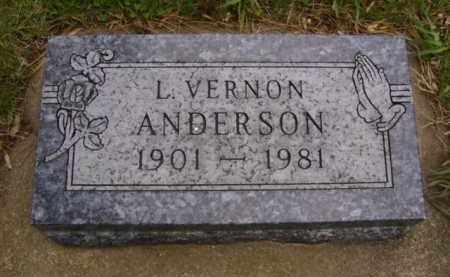 ANDERSON, L. VERNON - Minnehaha County, South Dakota | L. VERNON ANDERSON - South Dakota Gravestone Photos