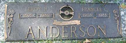 ANDERSON, LEROY H. - Minnehaha County, South Dakota | LEROY H. ANDERSON - South Dakota Gravestone Photos