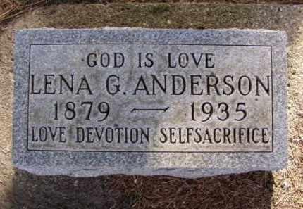ANDERSON, LENA G. - Minnehaha County, South Dakota | LENA G. ANDERSON - South Dakota Gravestone Photos