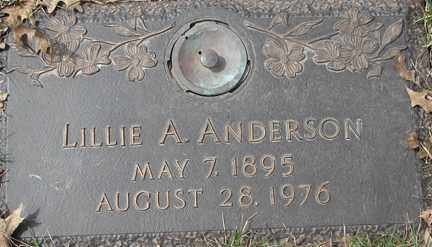 ANDERSON, LILLIE A. - Minnehaha County, South Dakota | LILLIE A. ANDERSON - South Dakota Gravestone Photos