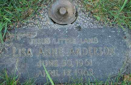 ANDERSON, LISA ANNE - Minnehaha County, South Dakota | LISA ANNE ANDERSON - South Dakota Gravestone Photos