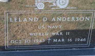 ANDERSON, LELAND D. (WWII) - Minnehaha County, South Dakota | LELAND D. (WWII) ANDERSON - South Dakota Gravestone Photos
