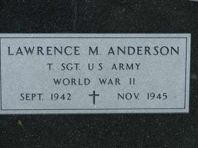 ANDERSON, LAWRENCE M. - Minnehaha County, South Dakota | LAWRENCE M. ANDERSON - South Dakota Gravestone Photos