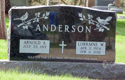 ANDERSON, ARNOLD A. - Minnehaha County, South Dakota | ARNOLD A. ANDERSON - South Dakota Gravestone Photos