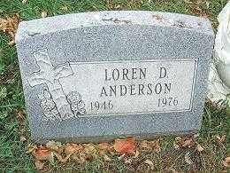 ANDERSON, LOREN D. - Minnehaha County, South Dakota | LOREN D. ANDERSON - South Dakota Gravestone Photos