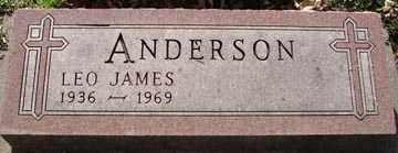 ANDERSON, LEO JAMES - Minnehaha County, South Dakota | LEO JAMES ANDERSON - South Dakota Gravestone Photos