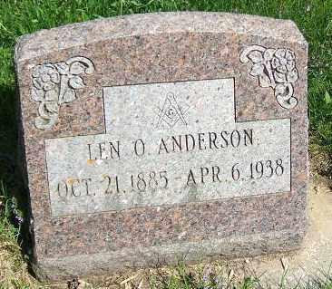 ANDERSON, LEN O. - Minnehaha County, South Dakota   LEN O. ANDERSON - South Dakota Gravestone Photos