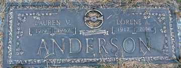 ANDERSON, LORENE A. - Minnehaha County, South Dakota | LORENE A. ANDERSON - South Dakota Gravestone Photos