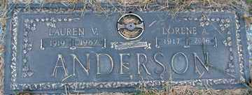 ANDERSON, LAUREN V. - Minnehaha County, South Dakota | LAUREN V. ANDERSON - South Dakota Gravestone Photos