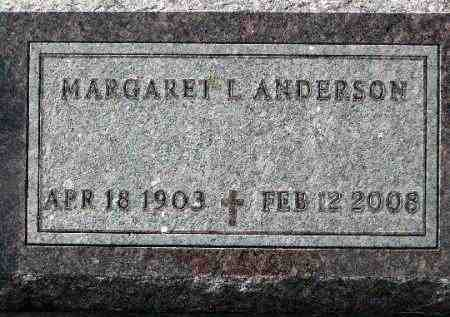 ANDERSON, MARGARET L. - Minnehaha County, South Dakota | MARGARET L. ANDERSON - South Dakota Gravestone Photos