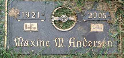 ANDERSON, MAXINE M. - Minnehaha County, South Dakota | MAXINE M. ANDERSON - South Dakota Gravestone Photos