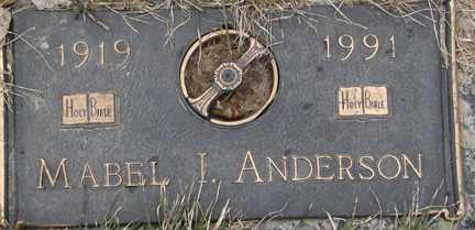 ANDERSON, MABEL I. - Minnehaha County, South Dakota | MABEL I. ANDERSON - South Dakota Gravestone Photos