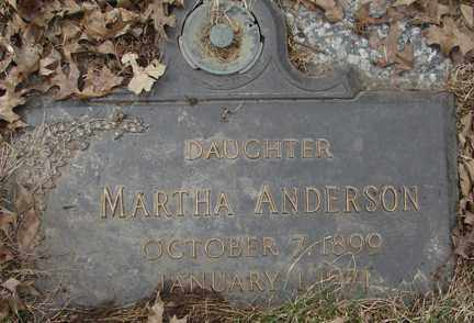 ANDERSON, MARTHA - Minnehaha County, South Dakota   MARTHA ANDERSON - South Dakota Gravestone Photos