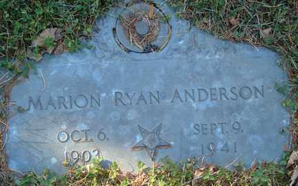 ANDERSON, MARION RYAN - Minnehaha County, South Dakota   MARION RYAN ANDERSON - South Dakota Gravestone Photos