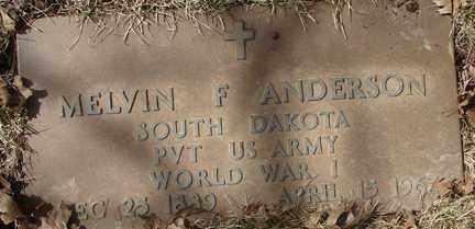ANDERSON, MELVIN F. - Minnehaha County, South Dakota | MELVIN F. ANDERSON - South Dakota Gravestone Photos