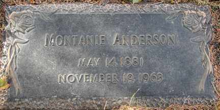 ANDERSON, MONTANIE - Minnehaha County, South Dakota   MONTANIE ANDERSON - South Dakota Gravestone Photos