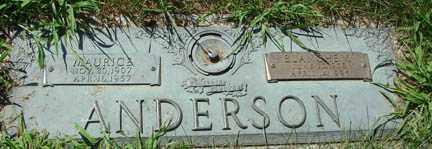 ANDERSON, MAURICE - Minnehaha County, South Dakota | MAURICE ANDERSON - South Dakota Gravestone Photos