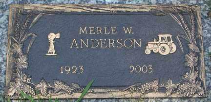 ANDERSON, MERLE W. - Minnehaha County, South Dakota | MERLE W. ANDERSON - South Dakota Gravestone Photos